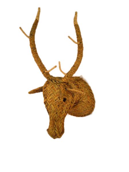 Cabeza de ciervo de esparto iluminoteca - Cabeza de ciervo decoracion ...